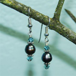 Teal-Blue-Pearls-Swarovski-Crystal-and-Sterling-Silver-Earrings